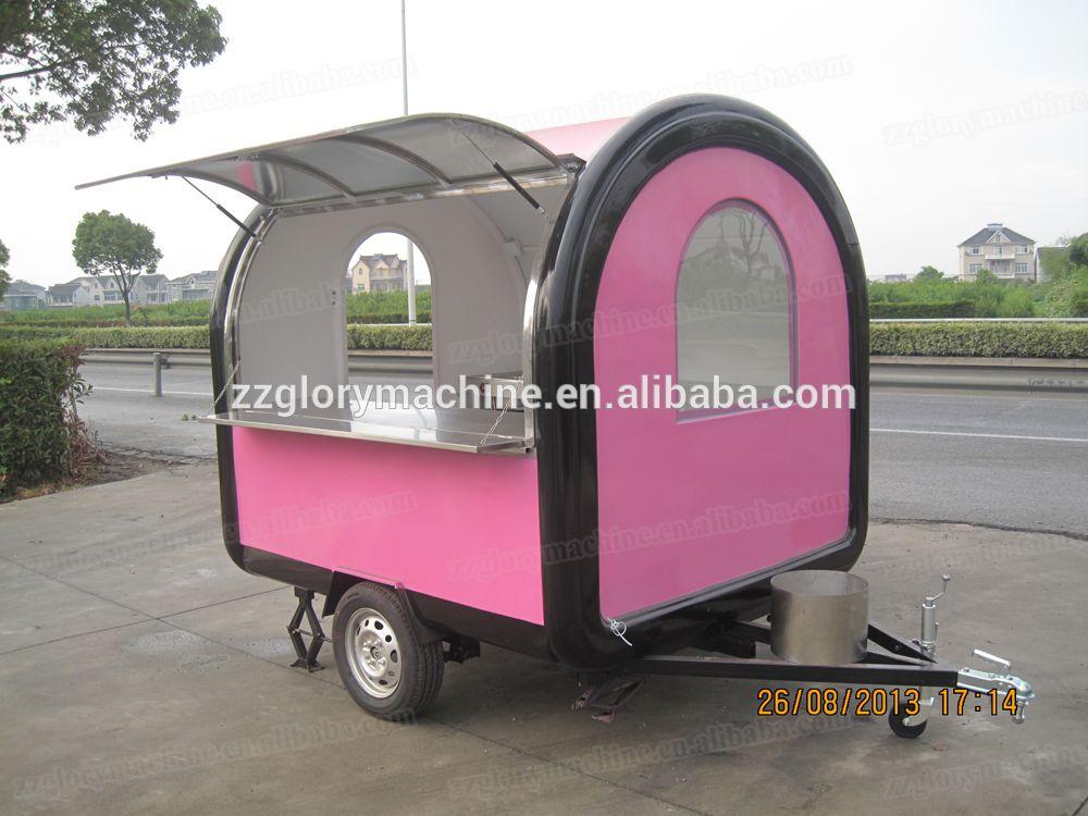 China electric stainless steel food truck fast food van