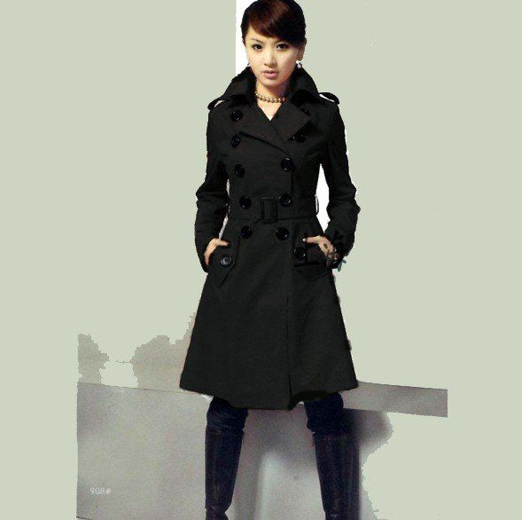 Ladies Long Black Jacket O9GAE9