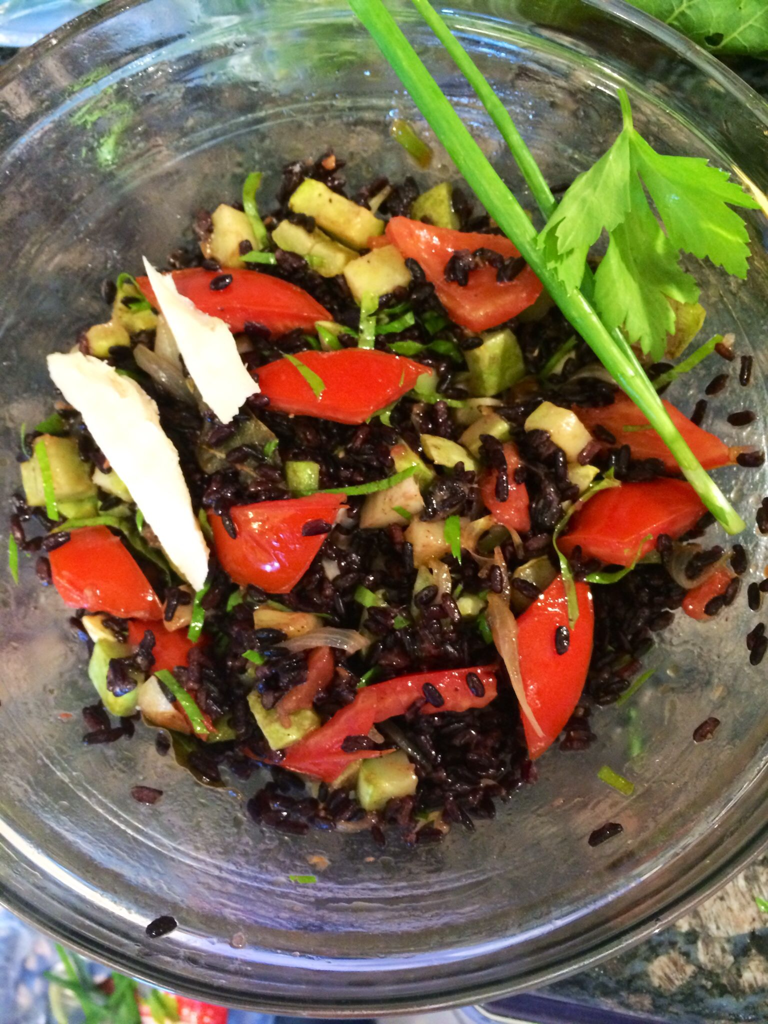 My lovely Black rice salad