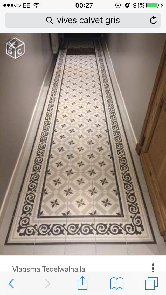Corridor Bordars Carrelage Couloir Deco Entree Maison Carreaux Ciment
