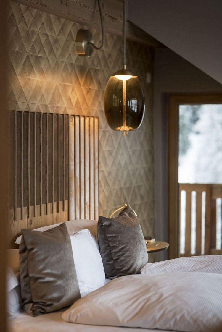 Rustikales Schlafzimmer gepolstertes bettkopfteil designer le rustikales schlafzimmer
