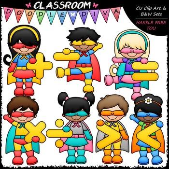 Superhero Math Symbols Clip Art Math Clip Art Classroom Set Up