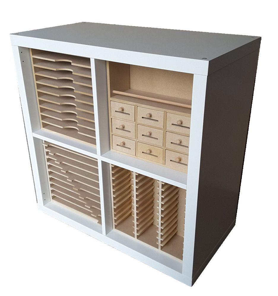 details about new range of craft storage inserts for ikea kallax cubes ikea kallax craft. Black Bedroom Furniture Sets. Home Design Ideas