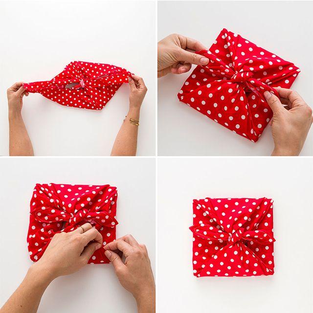 DIY Fabric Gift Wrap | DIY | Cotton