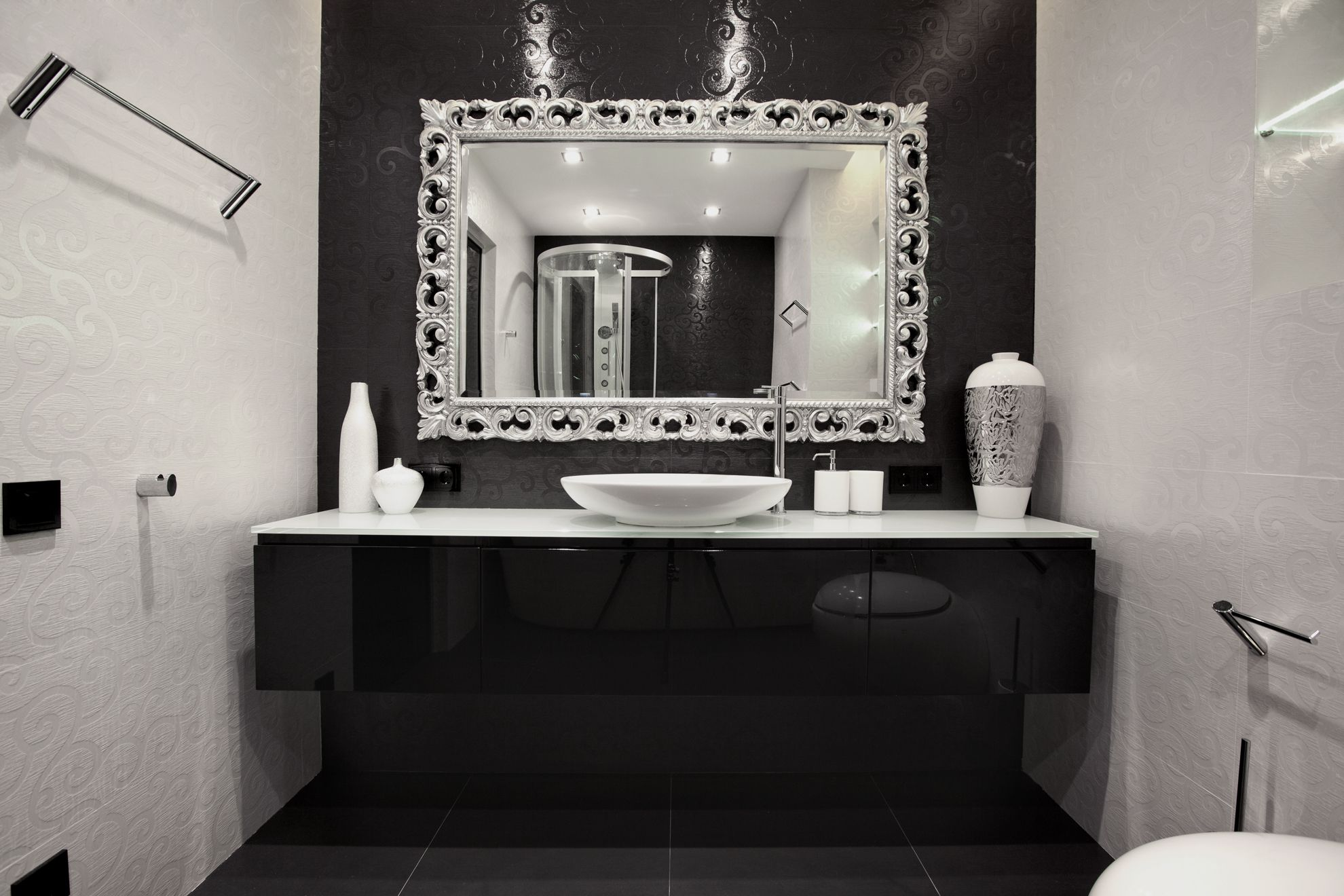 Bathroom Stunning Bathroom Mirror Design Ideas: Interior Entrancing ... - See more & Bathroom Stunning Bathroom Mirror Design Ideas: Interior Entrancing ...