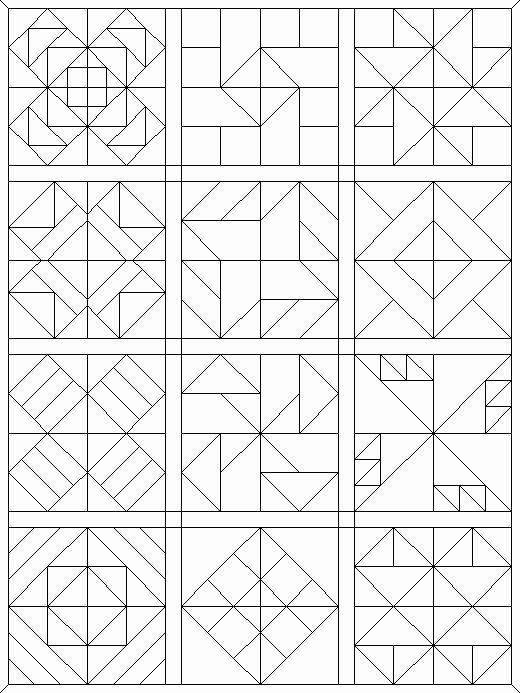 Free Printable Quilt Coloring Pages Awesome Coloring Pages Quilt Blocks 09 My Faves Barn Quilt Designs Barn Quilt Barn Quilts