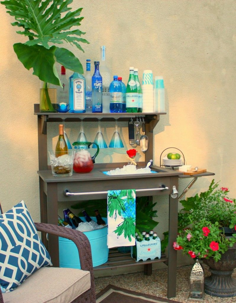 Outdoor Buffet Table Using A Side Table