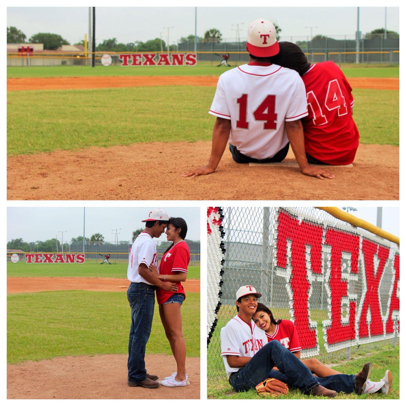 Baseball couple pics