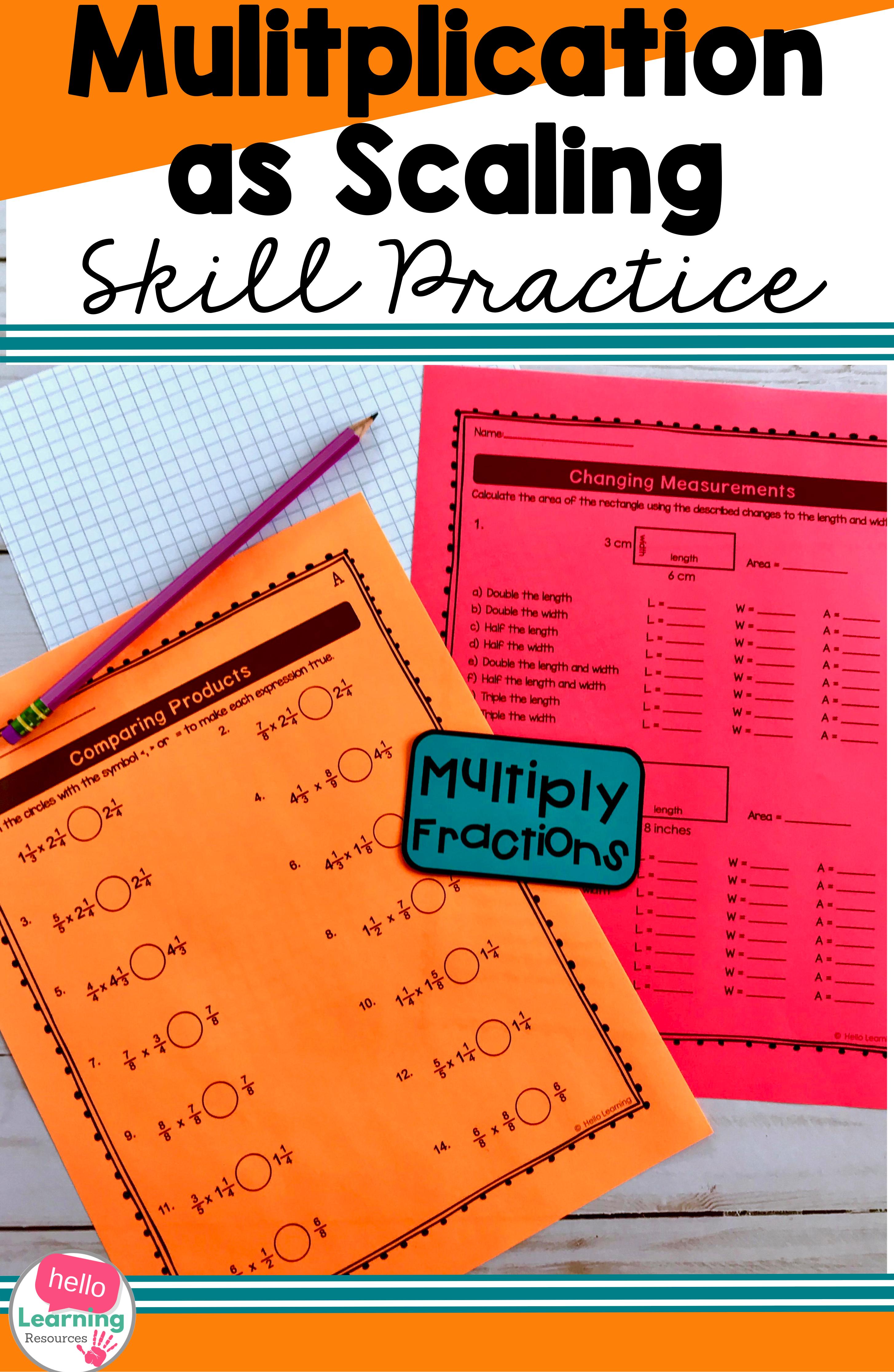 medium resolution of Fraction Multiplication as Scaling   Upper elementary math