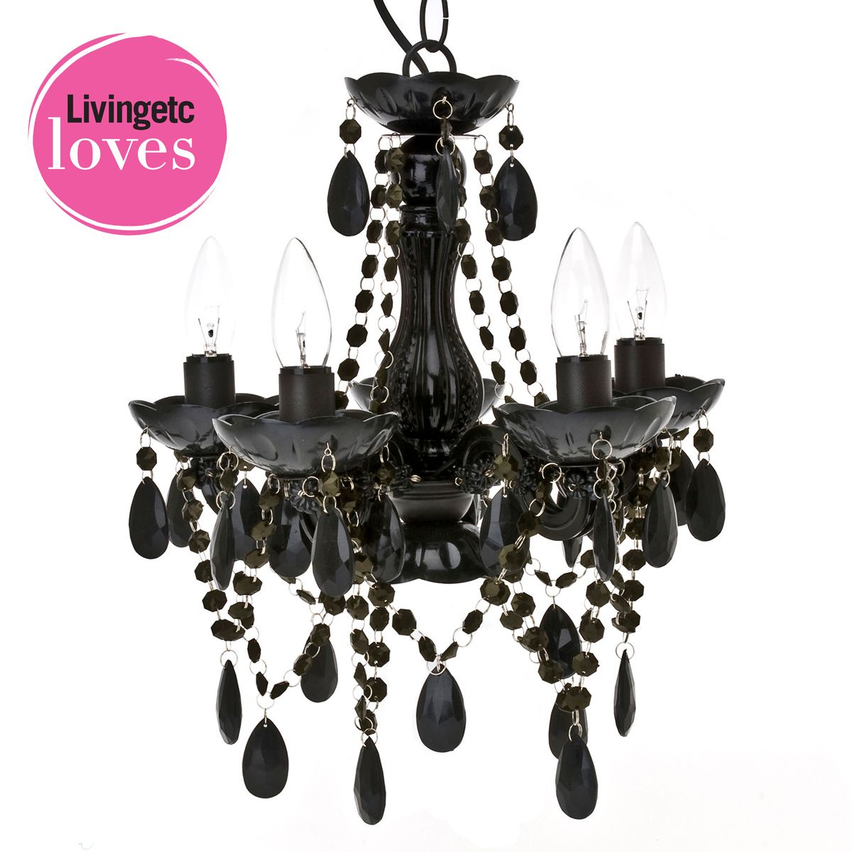 Petit black chandelier by the french bedroom company fun petit black chandelier by the french bedroom company aloadofball Choice Image