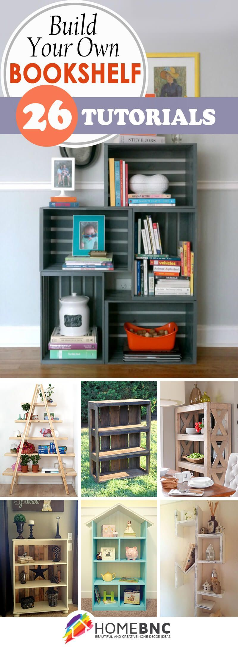26 Trendy DIY Bookshelf Ideas that make optimal use of the space in your home  home decors  26 Trendy DIY Bookshelf Ideas that make the most of the space in your home