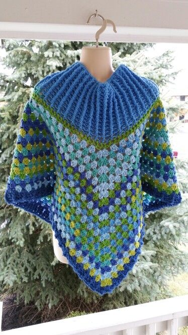 Hot Off My Hook Project Cowl Neck Poncho Started 18 Oct 2015