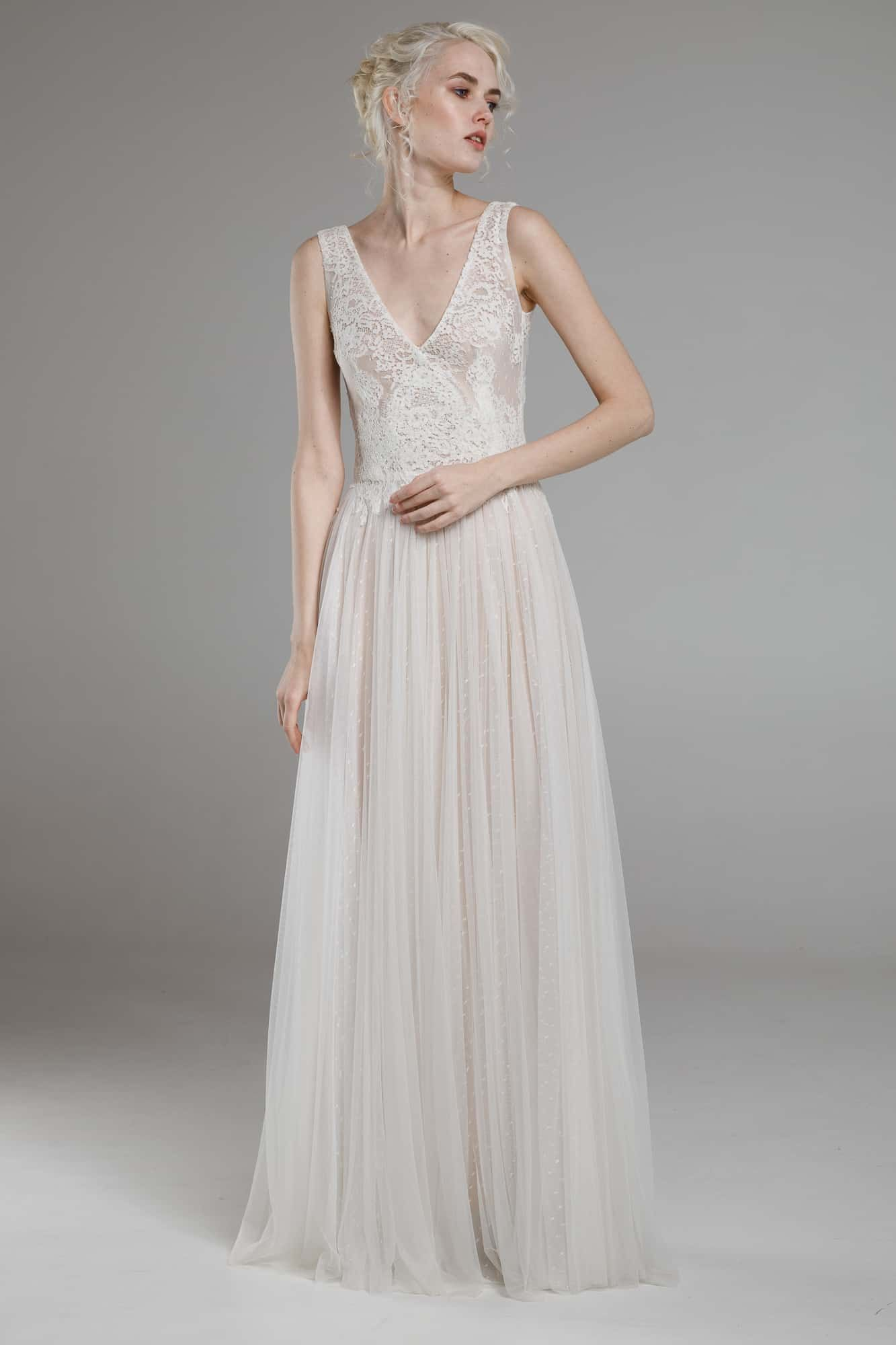Boho vintage wedding dress romantic chic available in 6