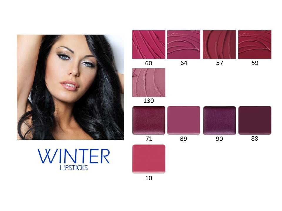 Lipsticks for Winters from Inglot. Swatched to the Unique to You Colour System