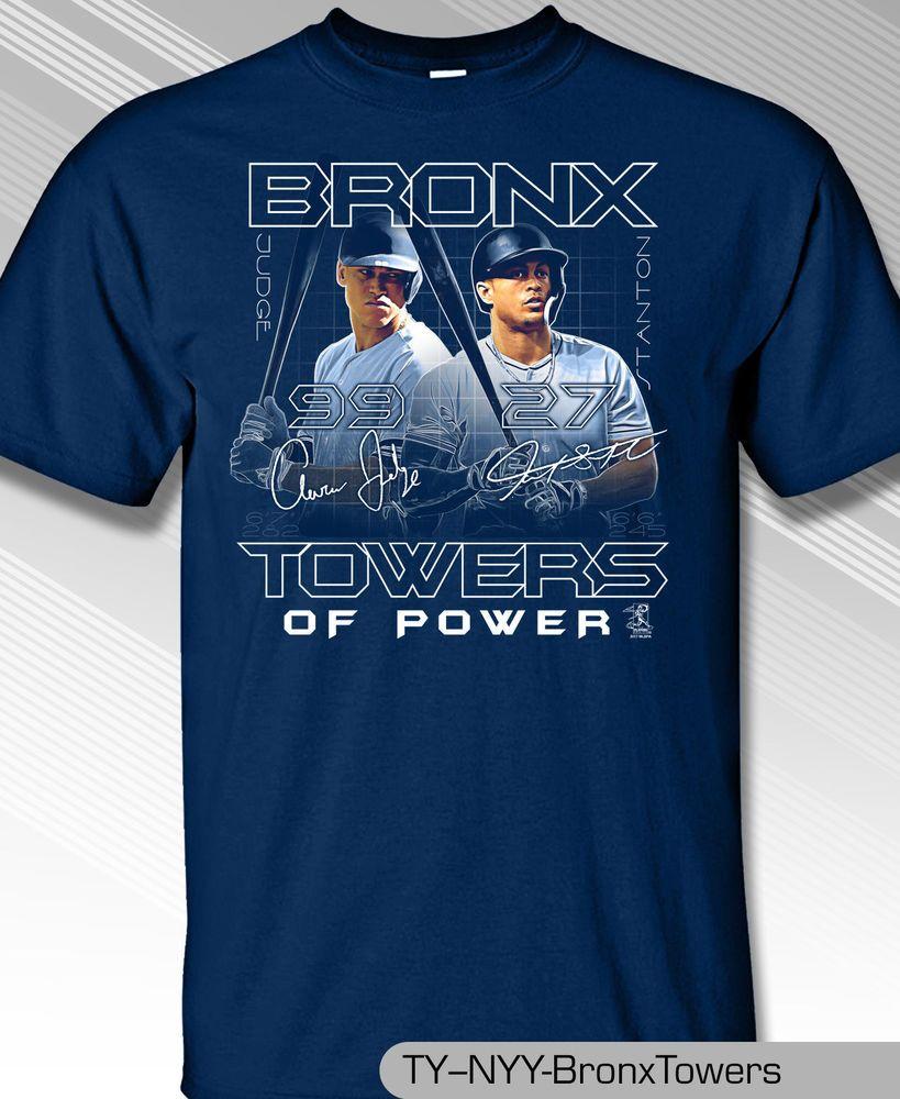 7a67c02ed Aaron Judge and Giancarlo Stanton New York s Bronx Towers Shirt MLB1647N   MLBPA