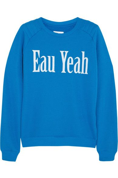 Bright blue Eau Yeah cotton blend jersey sweatshirt | Zoe