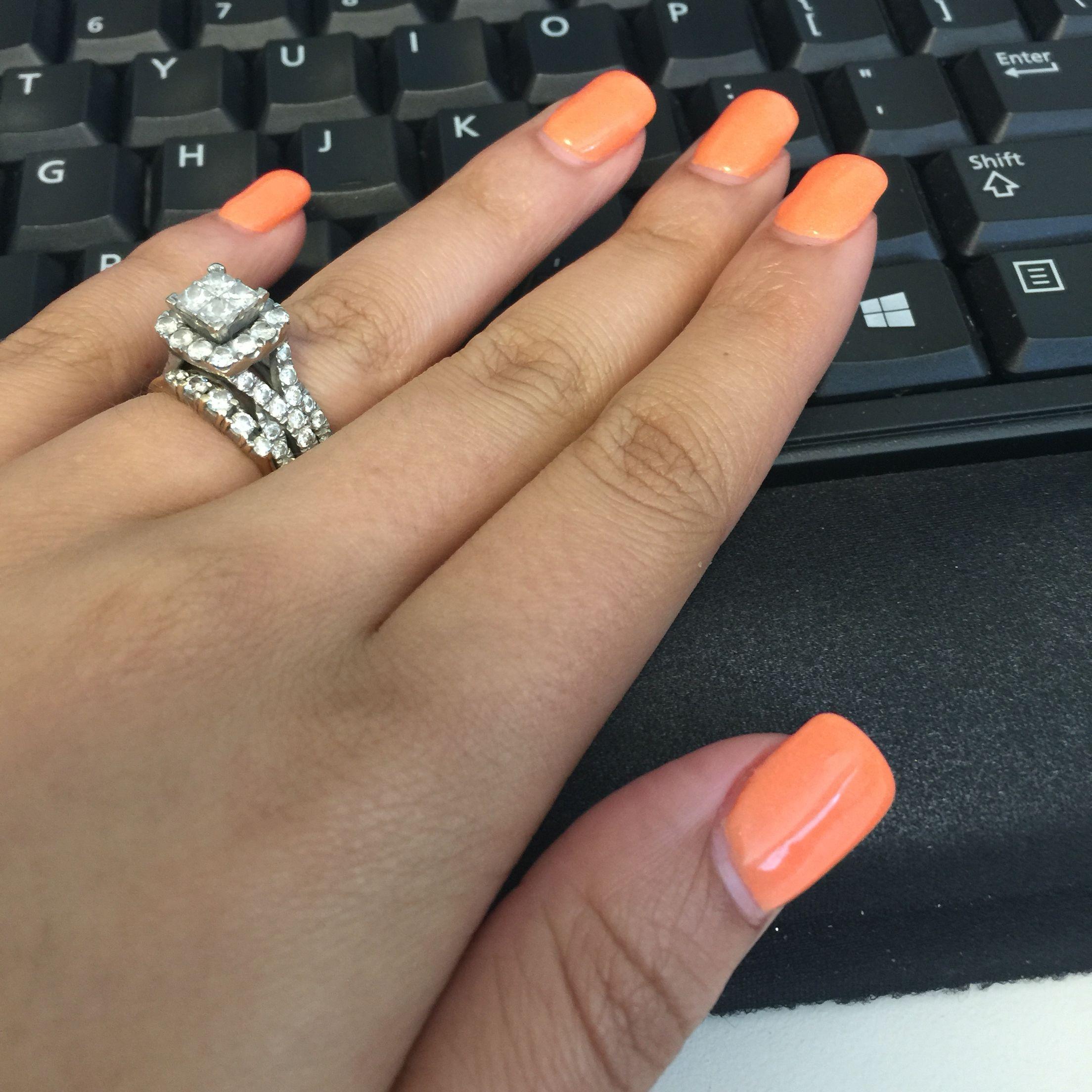 Loving this orange nail powder for the summer! #nextgen #powder ...