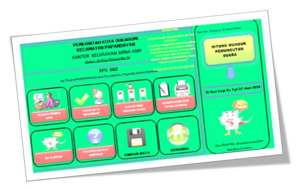 Aplikasi C1 Pilkada 2018 Format Excel 2 Paket Aplikasi Sekolah Guru