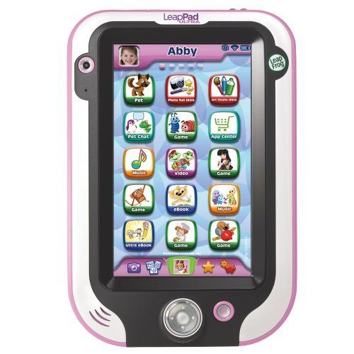 LeapFrog LeapPad Ultra Learning Tablet, Pink by LeapFrog, http://www.amazon.com/dp/B00CS1WD9A/ref=cm_sw_r_pi_dp_eHYosb0VW06QZ