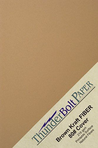 150 Brown Kraft Fiber 80 Cover Paper Sheets 5 X 7 5x7 Inches Photocardframe Size Rich Earthy Color With Natural Fib Cover Paper Brown Kraft Brown Kraft Paper