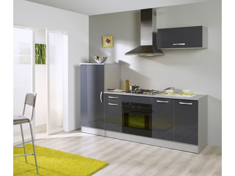 Bloc cuisine RUMBA coloris gris silver - Vente de 10 de remise - Conforama Meuble De Cuisine