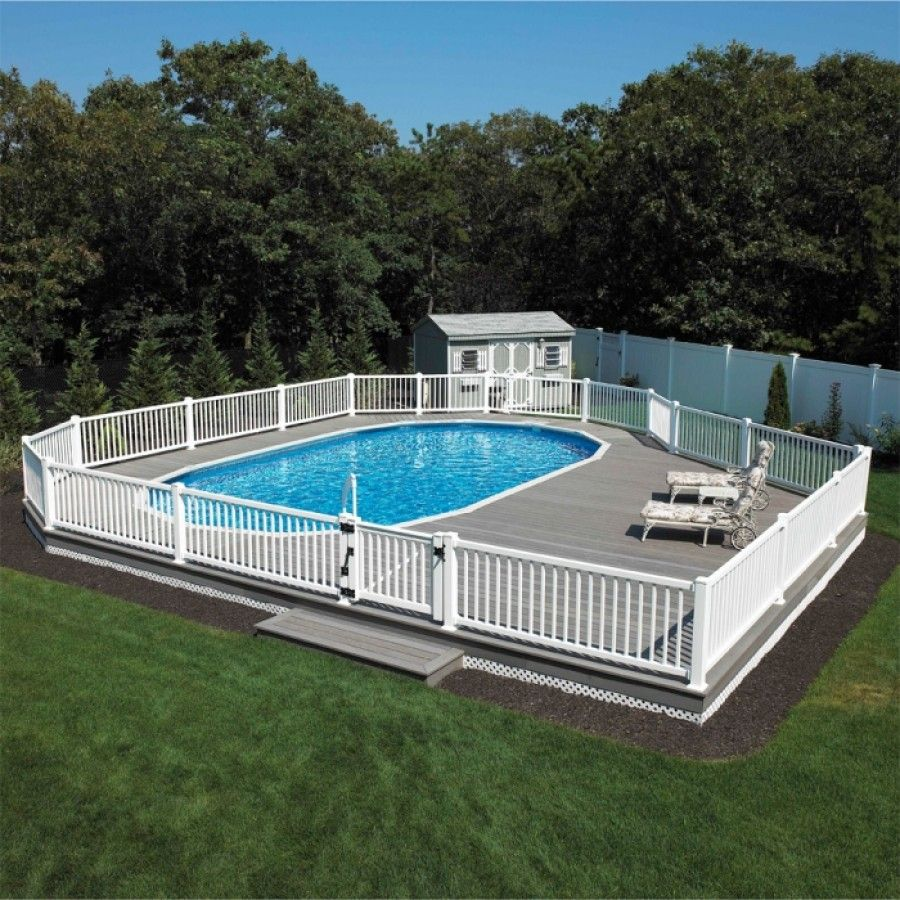 "Above Ground Pool Landscaping Ideas Pictures: Monument 52"" Semi - Inground Or"