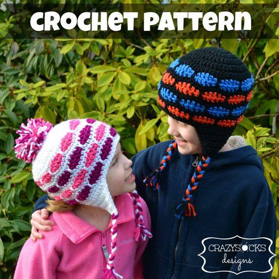 Crochet Pattern Instant Download Mason Hat Brick Beanie