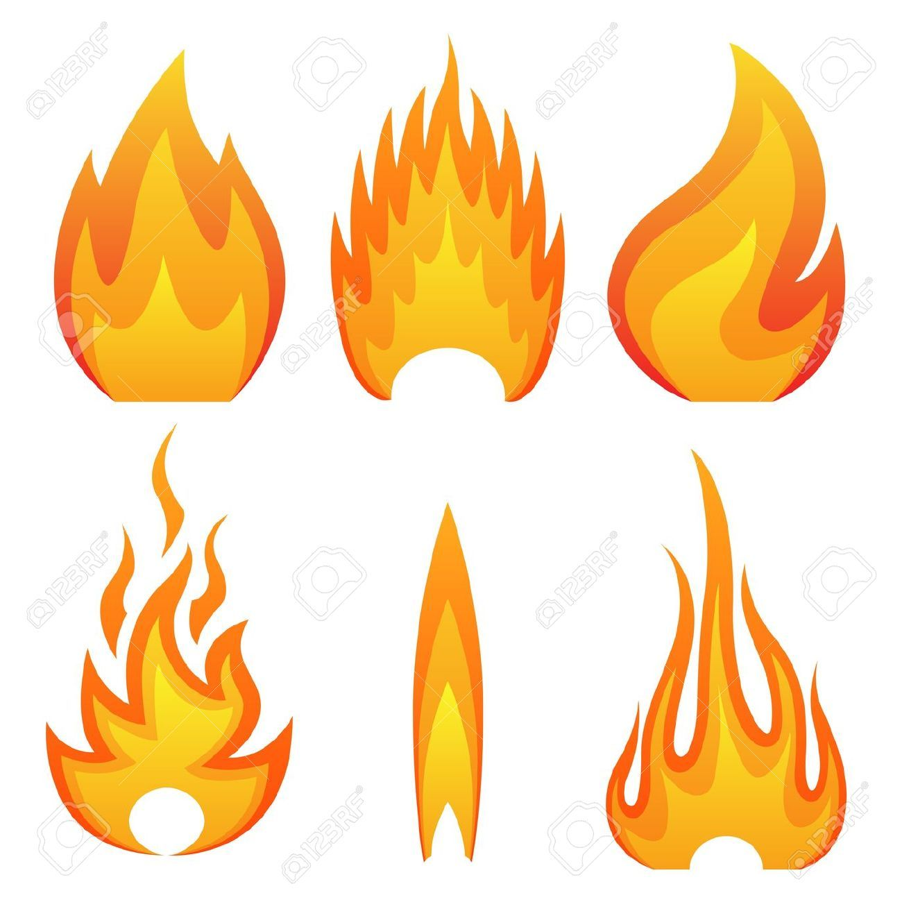 Fire Flame Stock Illustrations, Cliparts And Royalty Free