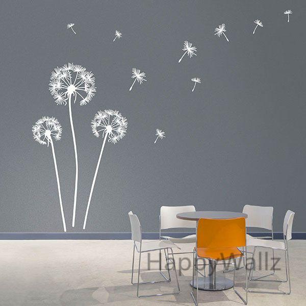 pissenlit sticker mural moderne pissenlit sticker vinyle mur d coratif pissenlit papier peint. Black Bedroom Furniture Sets. Home Design Ideas