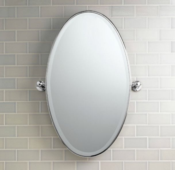 Oval Bathroom Mirrors Brushed Nickel Digihome Condo