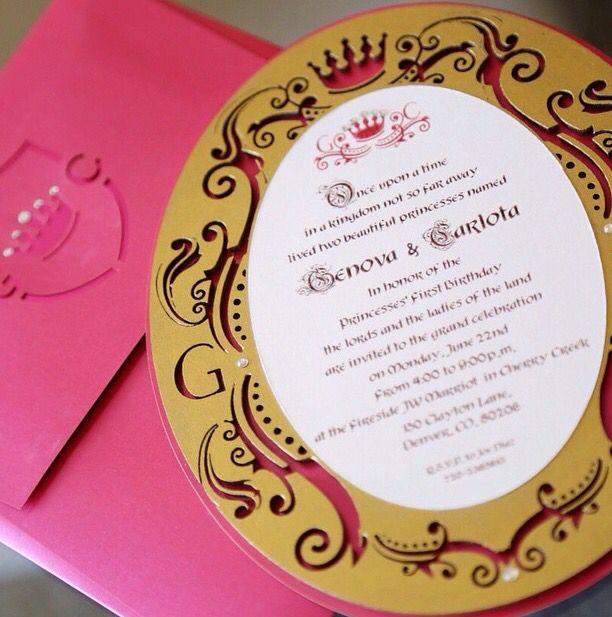 #Royal #Princess #Party #Crown #Custom #Invitation
