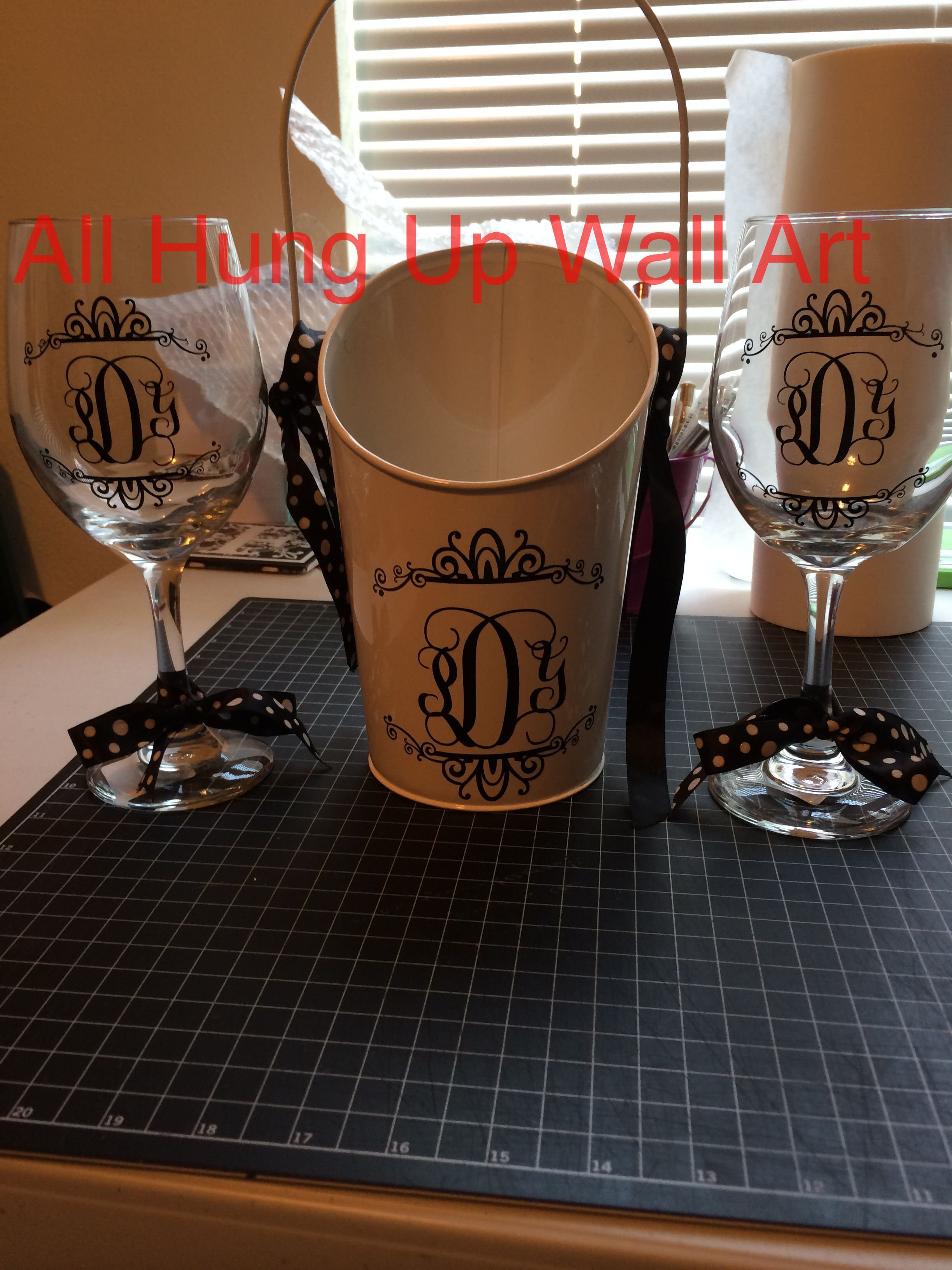 Wine Glasses And Ice Bucket