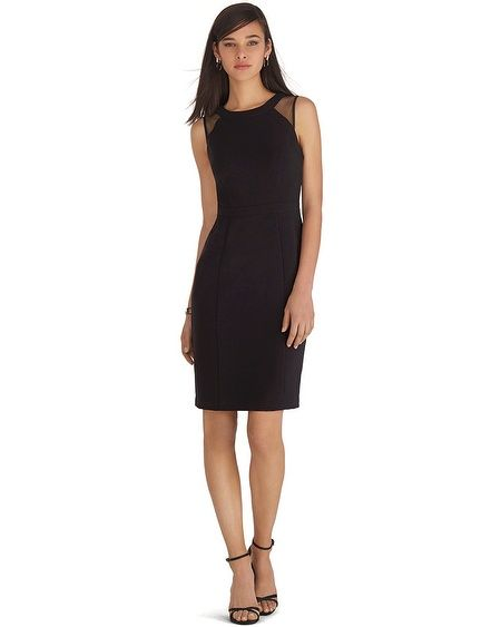 White House Black Market Sleeveless Mesh Iconic Sheath Dress Whbm