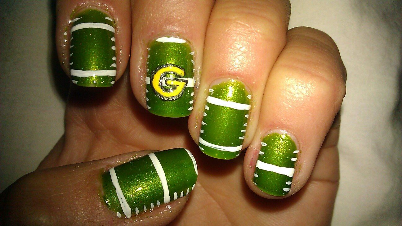 Green Bay Packers Nail Art (originals!) I do a different design ...