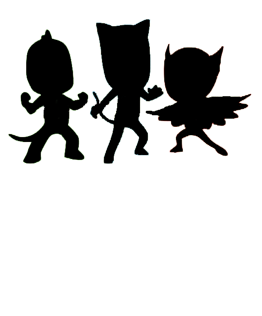 PJ Mask silhouette Pj masks birthday party, Pj masks
