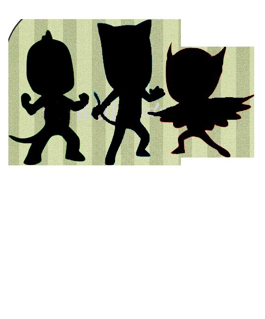 PJ Mask silhouette | silhouette cameo | Pinterest | Pj ...