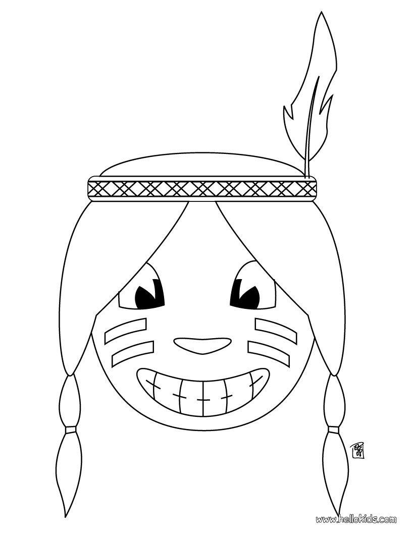 Indien Head coloring page | Kiddies | Pinterest