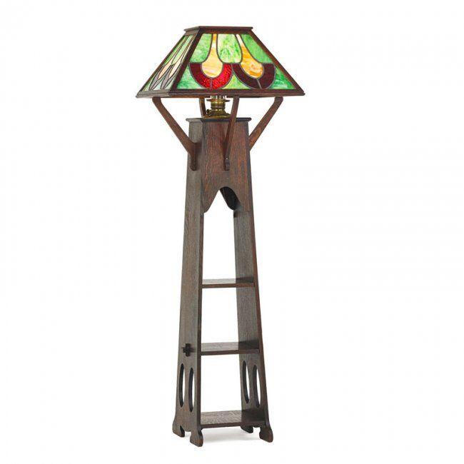 Shop Of The Crafters Floor Lamp Lot 141 Lamp Floor Lamp Art Deco Lamps