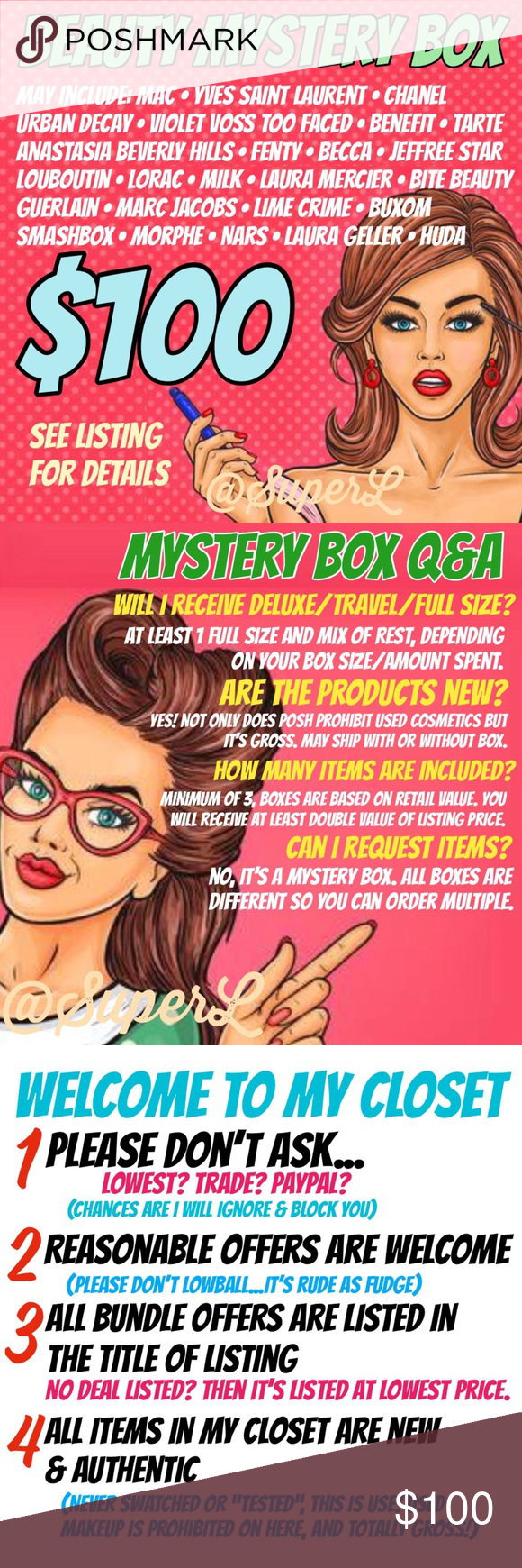 100 Beauty Makeup Surprise Mystery Gift Box 🎁 This