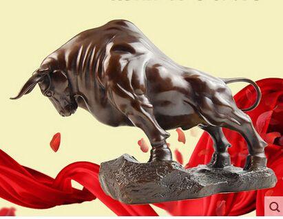 Size:35*12*23cm *DEAL* Large 100% Bronze Taurus BULL Statue Sculpture Art cooking tools Decoration 100% Brass Bronze