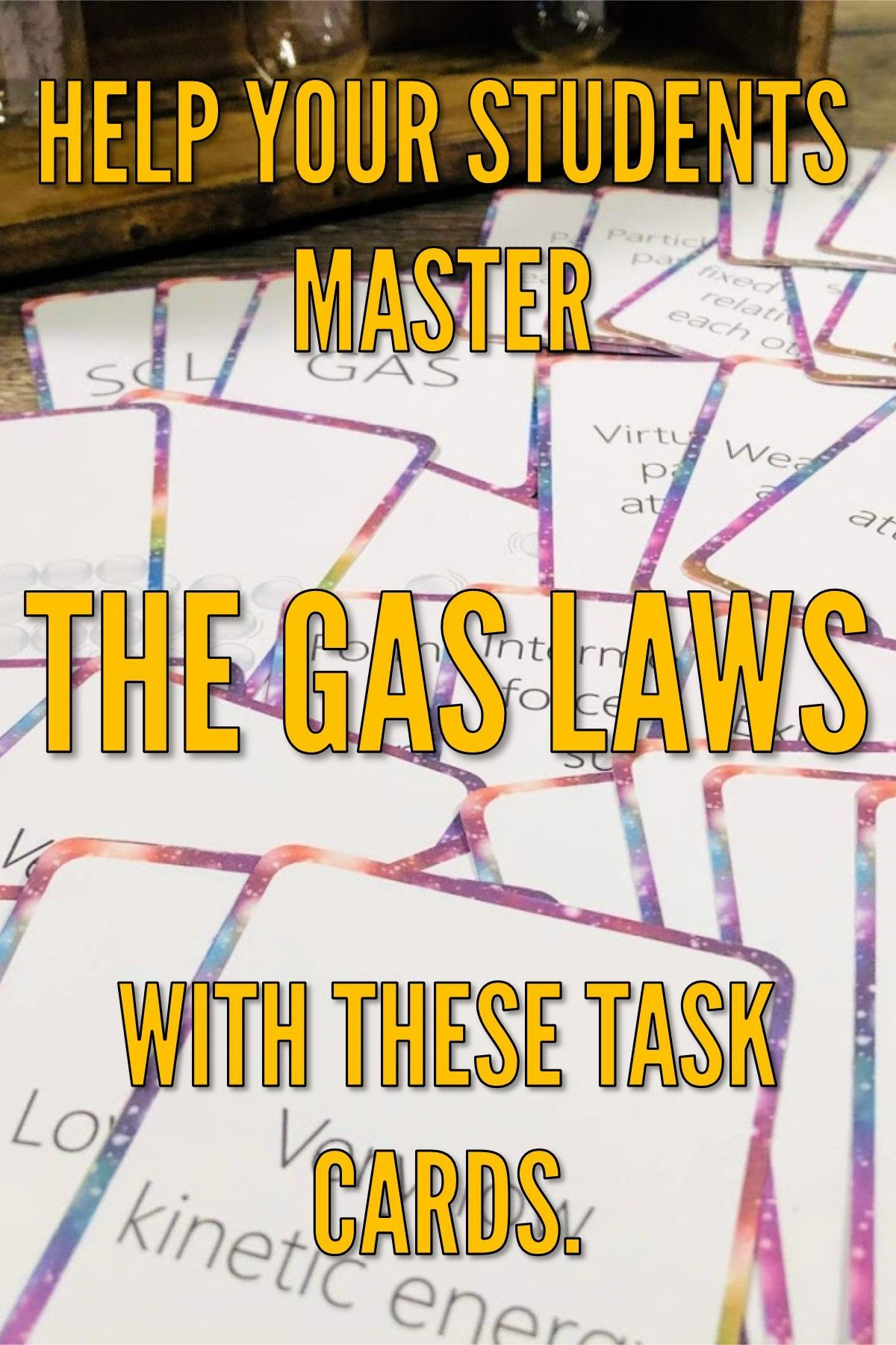 Gas Laws Task Cards Activity Six Gas Laws