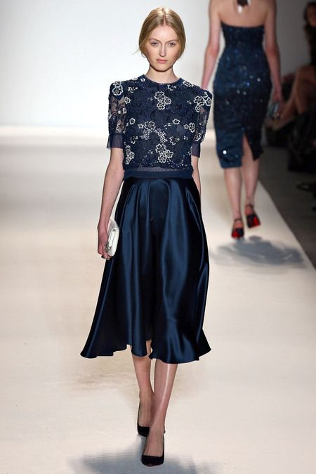 Love this navy blue beaded floral dress from Jenny Packham Fall 2013 RTW