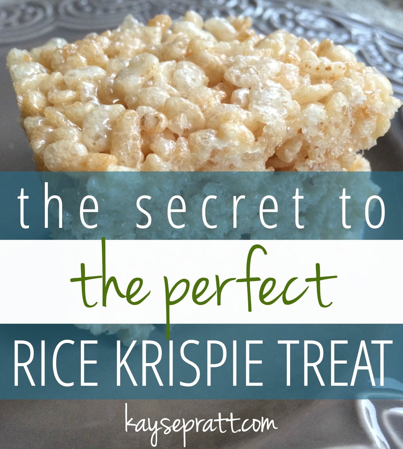 The Secret to the PERFECT Rice Krispie Treat - Anchored Women #ricekrispiestreats