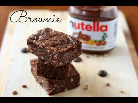 Brownie De Nutella 3 Ingredientes Brownies De Nutella Receitas De Sobremesas Produtos Nutella