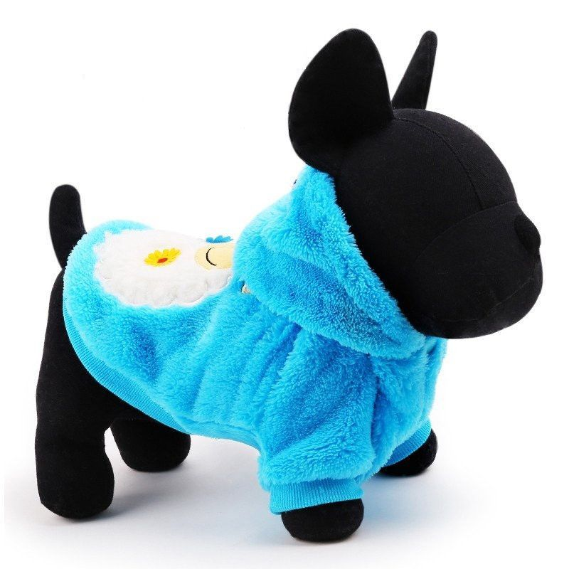Sheep Printed Plush Hoodie