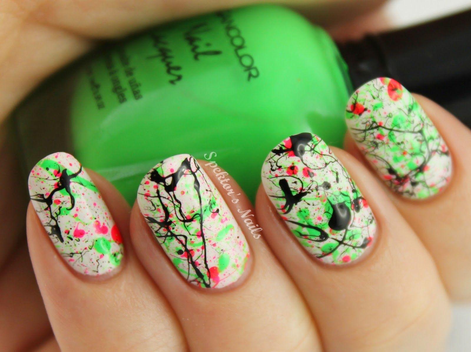 Perfecto Uñas Florales Inverness Cresta - Ideas Para Pintar Uñas ...