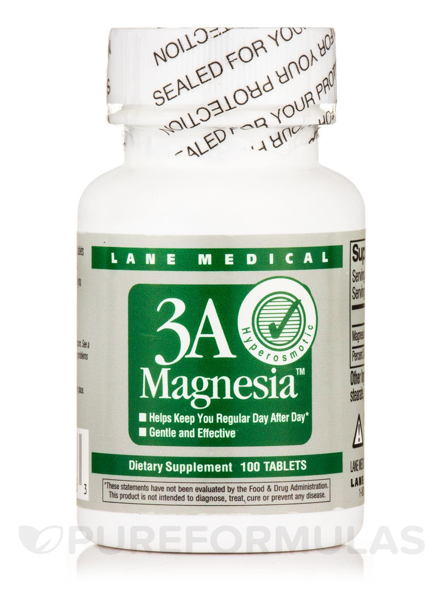 3A Magnesia 100 Tablets Low fiber diet, Food and drug