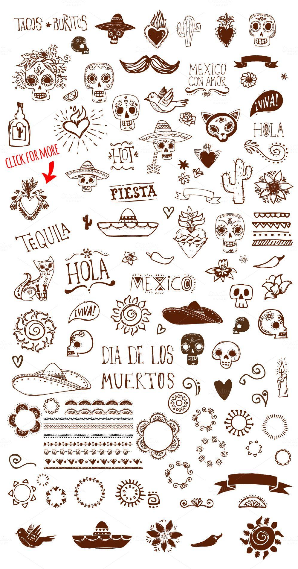 Small Mexican Tattoos : small, mexican, tattoos, Mexican, Drawn, Doodles, Tattoo, Templates,, Mexico, Tattoo,, Hands