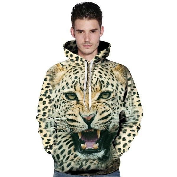 c23224a62 2018 Novelty couples hoodies 3D print Lion sweatshirt casual off ...