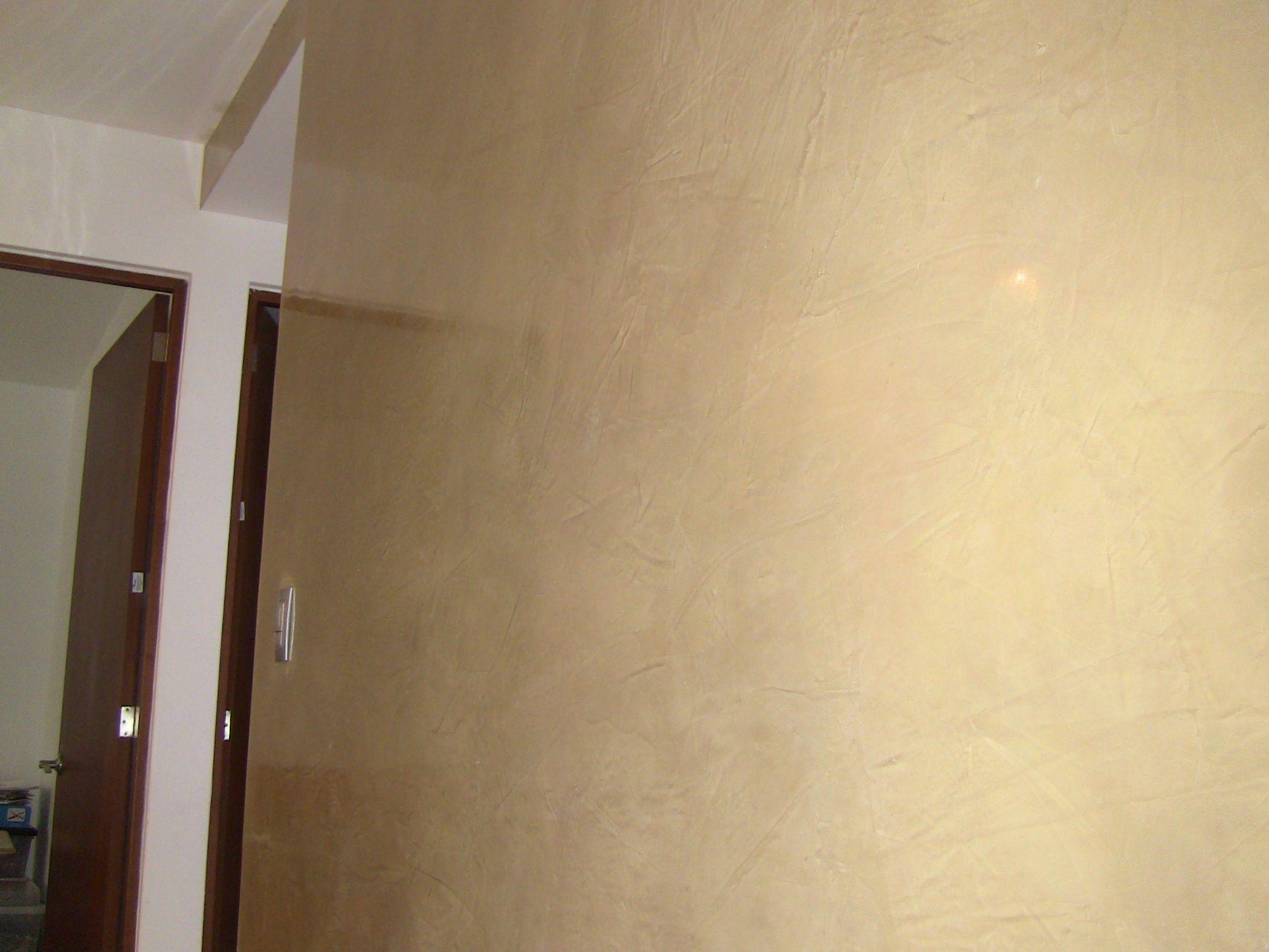 En esta foto se aprecia el brillo para la casa - Pintar paredes estucadas ...